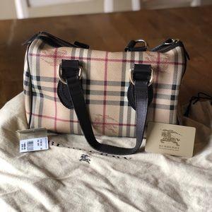 Burberry handbag. Classic style.